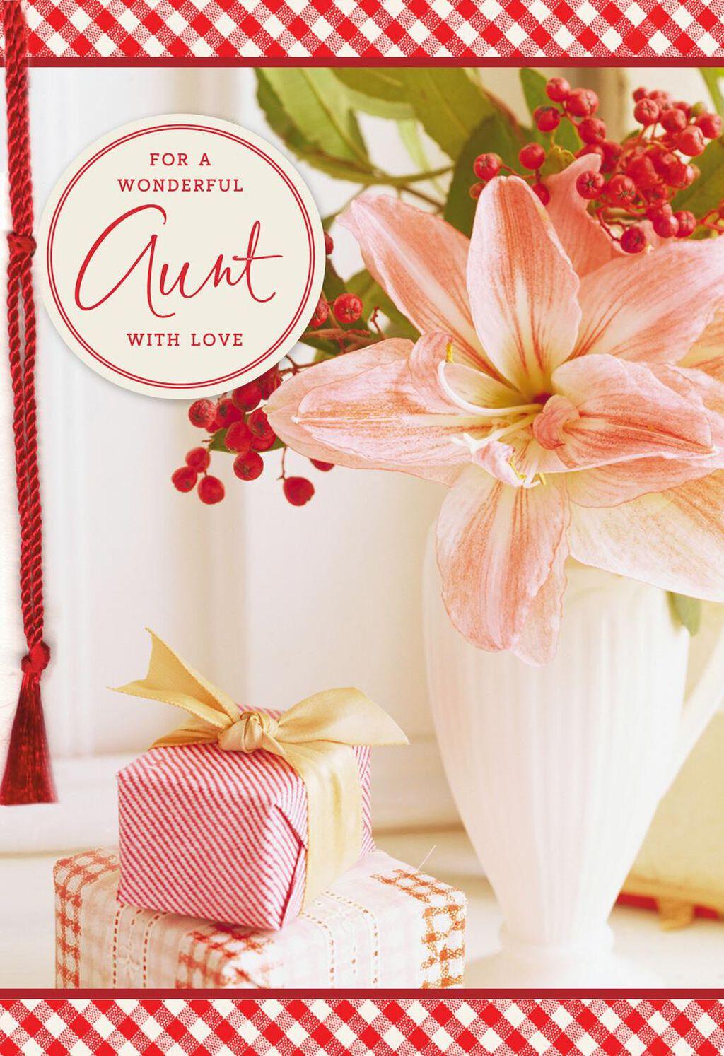 Sending My Love Christmas Card For Aunt Greeting Cards Hallmark