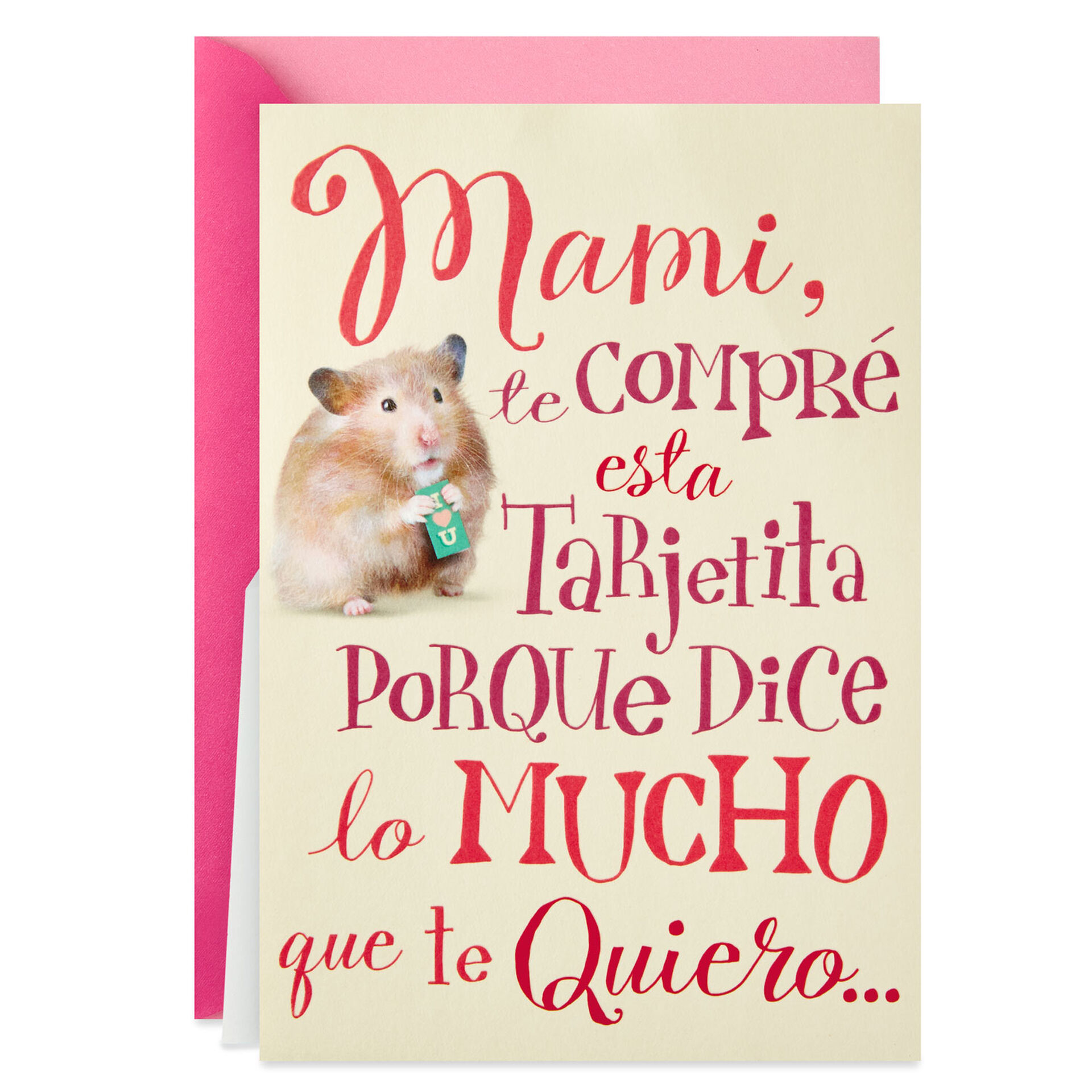 Just a Little Love Spanish-Language Funny Pop Up Birthday Card for Mom -  Greeting Cards - Hallmark