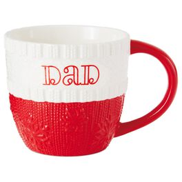 Dad Ceramic Holiday Mug, 10 oz., , large