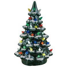 green ceramic nostalgic light up christmas tree 1175 decorative accessories hallmark - Ceramic Light Up Christmas Tree