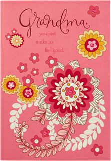 Flowers for Grandma Mother's Day Card,