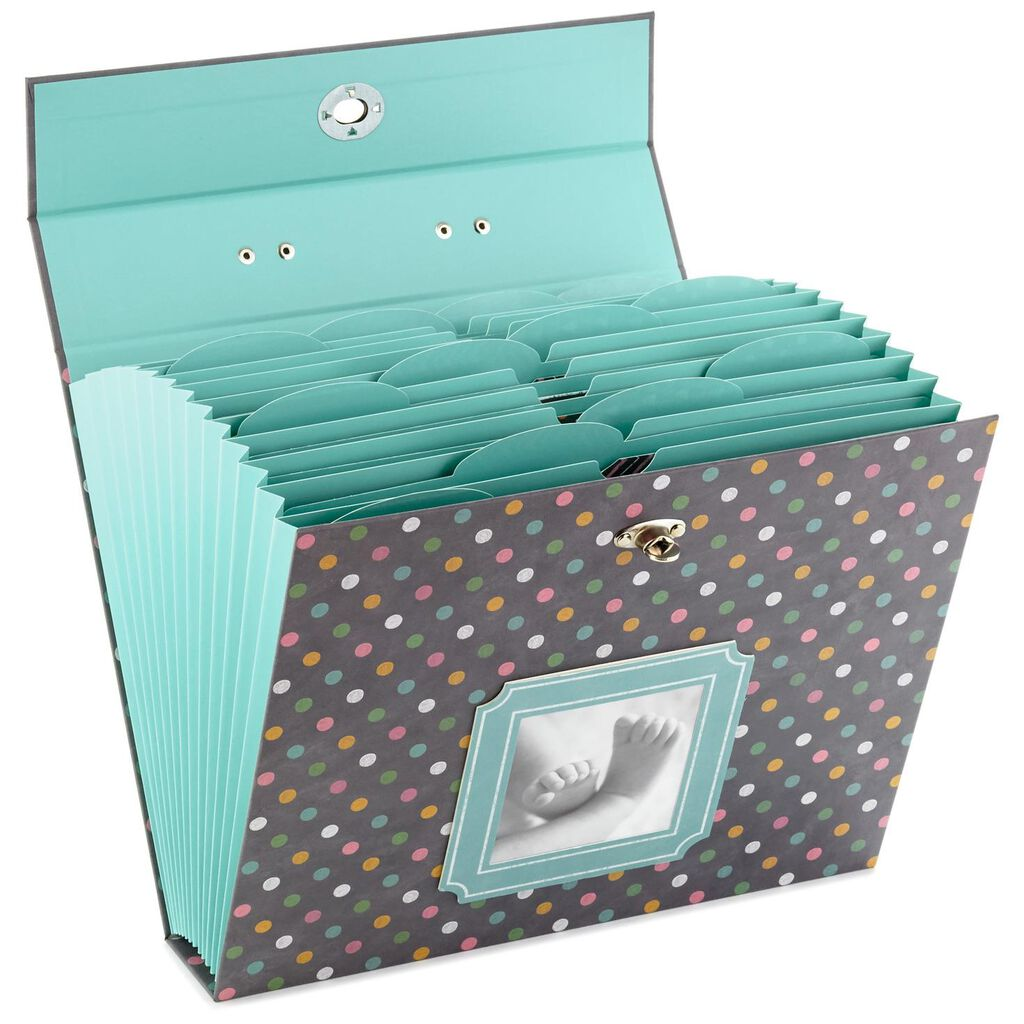 Polka Dot Baby Accordion File Folder Organizer