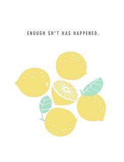 Lemons Bring on the Good Encouragement Card,