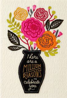 Vase of Flowers Mother's Day Card,