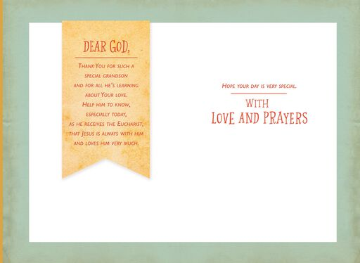 A Prayer for You, Grandson First Communion Card,