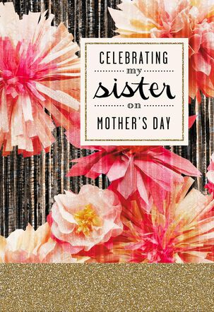 Celebrating My Sister on Mother's Day Card