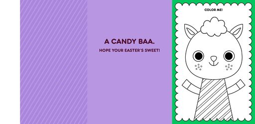 Chocolate Lamb Joke Kid's Easter Card With Stickers,