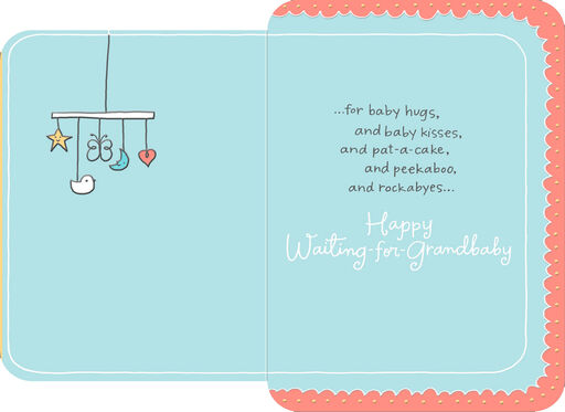 Baby Stroller Expectant Grandparents Congratulations Card,