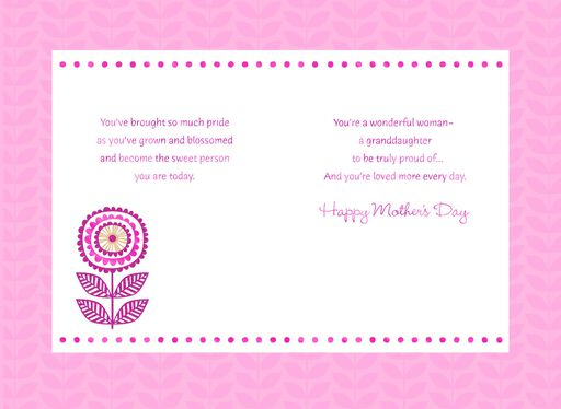 Mother's Day Card  for a Sweet Granddaughter,