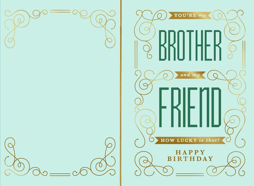 Best Of Both Worlds Birthday Card For Brother Greeting Cards