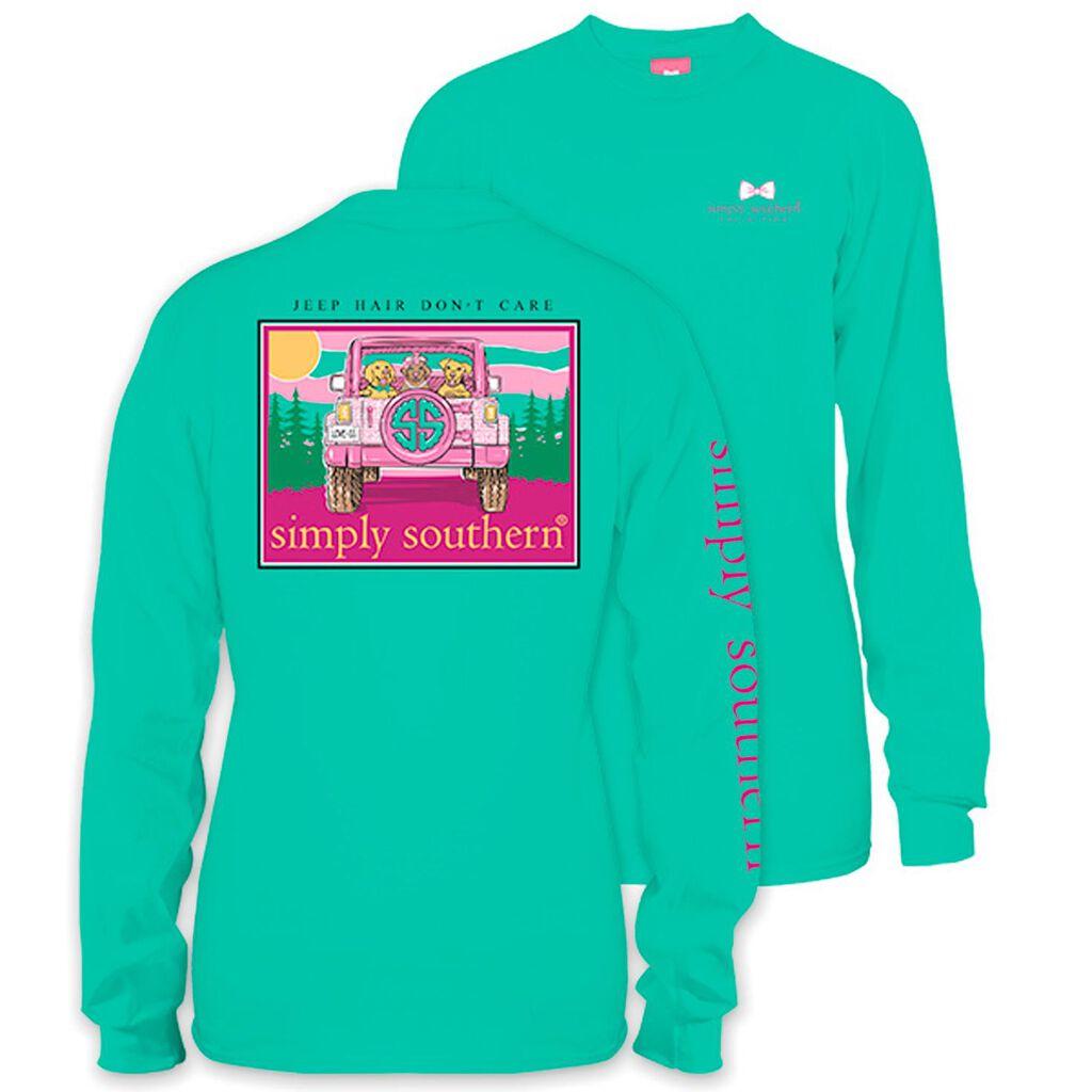0157e61a Simply Southern Women's Jeep Hair Long Sleeve T-Shirt - Clothing - Hallmark