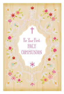 Every Grace and Blessing First Holy Communion Card for Her,