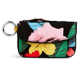 Vera Bradley Jen Zip ID Case in Havana Rose, , large