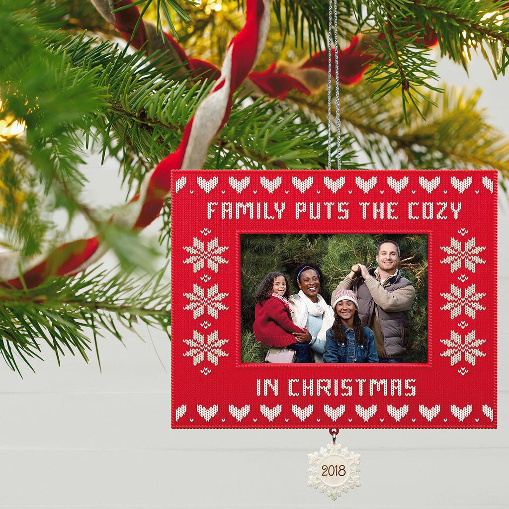 Cozy Family Christmas 2018 Photo Ornament - Keepsake Ornaments ...
