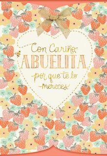 Strawberries for Grandma Spanish-Language Mother's Day Card,