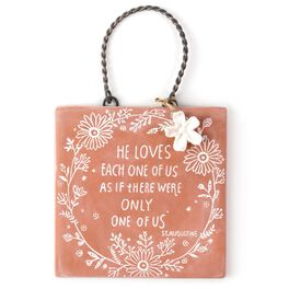 He Loves Us St. Augustine Sentiment Plaque, , large