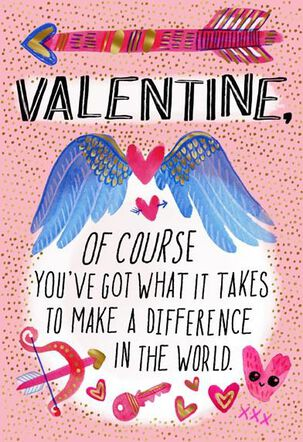Arrows, Hearts and Wings Valentine's Day Card