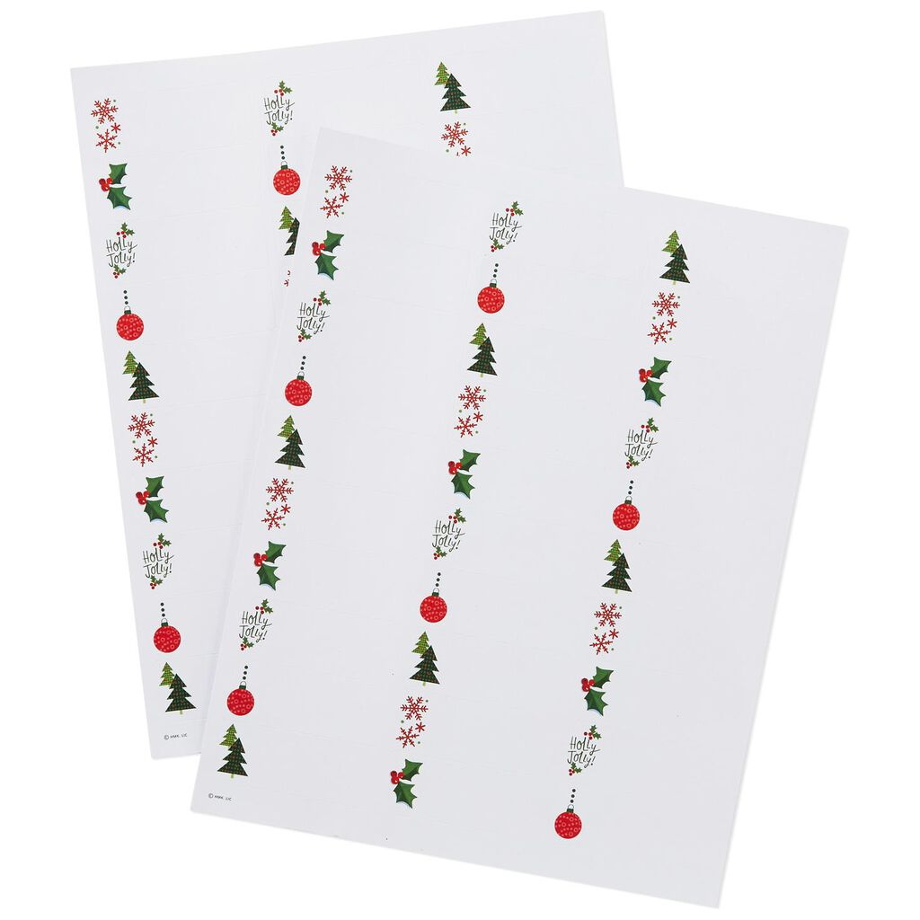 christmas icons address labels pack of 60 desk accessories hallmark