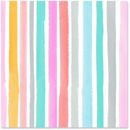 Watercolor Stripes Wrapping Paper Roll, 27 sq. ft., , large