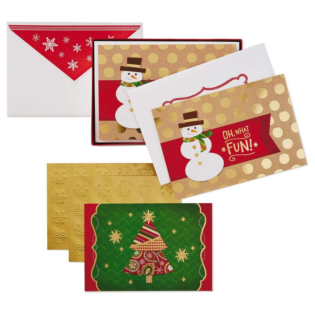 Oh What Fun Assorted Christmas Cards, Box of 40 - Boxed Cards - Hallmark