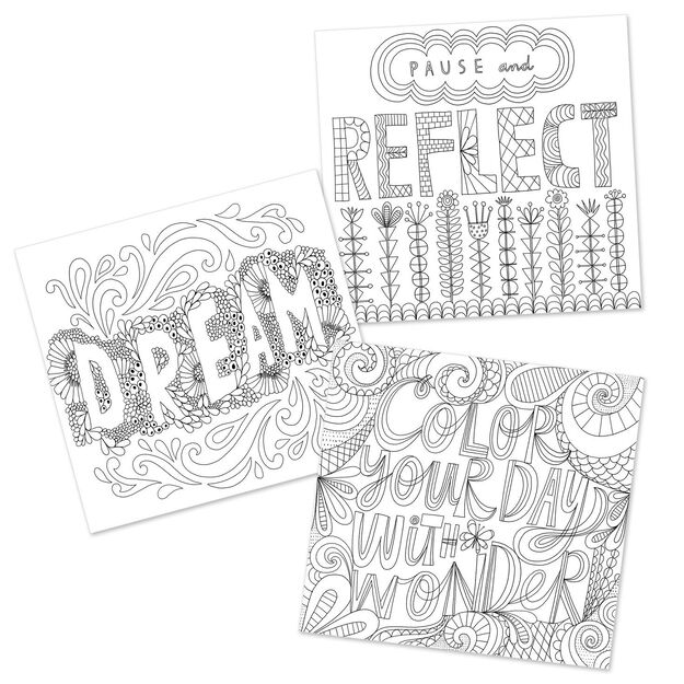 The Art Of Relaxation A Coloring Book By Hallmark Artists