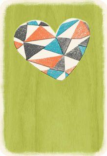 Geometric Heart Blank Card,