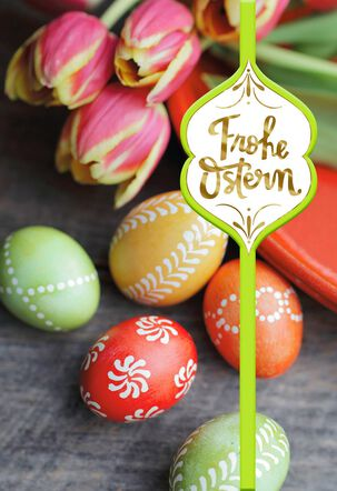 Joy and Beauty German-Language Easter Card