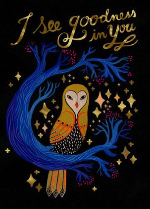 Starry Owl Encouragement Card