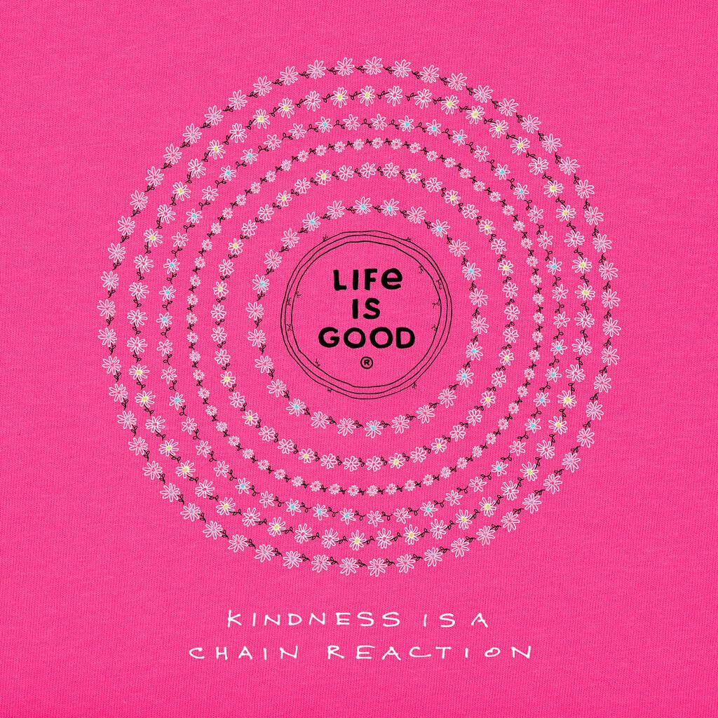 010c954cb ... Small Life is Good Women's Kindness Hot Pink V-Neck T-Shirt, Small