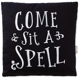 """Sit a Spell Spiderweb Print Decorative Pillow, 14"""", , large"""