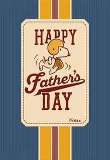 Peanuts® Snoopy Football Father's Day Card,