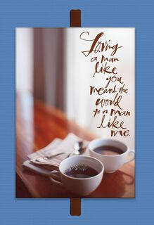 Coffee Cups Father's Day Card for the Man I Love,