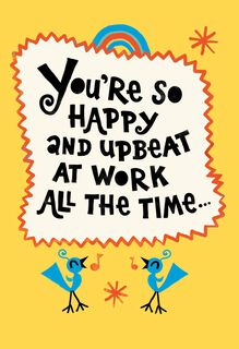 You're So Upbeat Funny Admin Professionals Day Card,