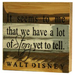 A Lot of Story Left to Tell Rustic Wood Sign, 8x8, , large