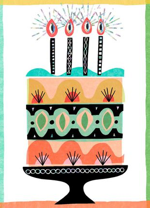 Slice Of Cake Blank Birthday Card