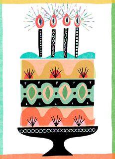 Slice of Cake Blank Birthday Card,
