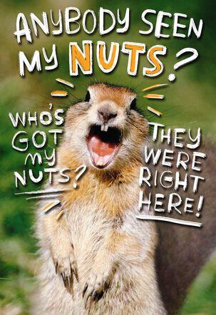 Go Nuts Funny 50th Birthday Card