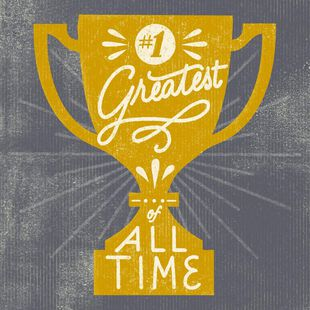 Greatest Of All Time Trophy Musical Birthday Card