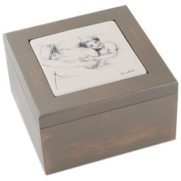 Expectant Mother Wooden Treasure Box, , large