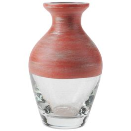 """Small Red Painted Glass Vase, 4"""", , large"""