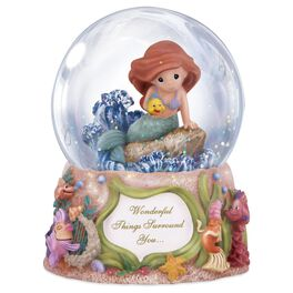 Precious Moments® Little Mermaid Ariel Musical Water Globe, , large