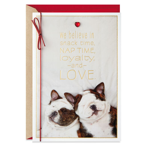 b41f63ab148 Napping Dogs So Good Together Valentine s Day Card