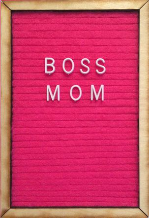 Boss Mom Letter Board Mother's Day Card