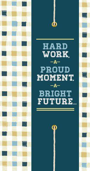 All Your Hard Work Money Holder Bar/Bat Mitzvah Card