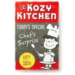 Lucy Kozy Kitchen Metal Sign, , large