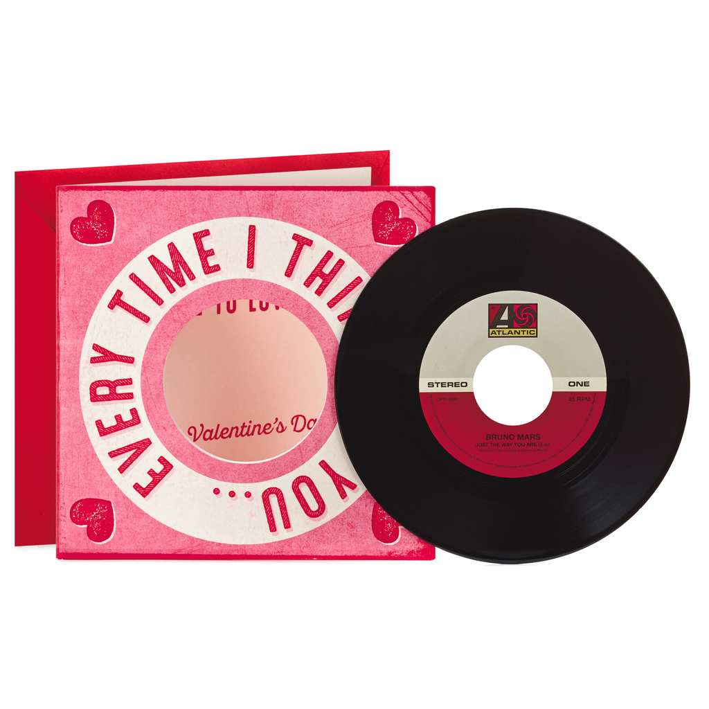 Bruno Mars Just The Way You Are Valentine S Day Card With Vinyl