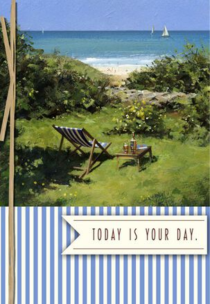 Scenic Ocean View Birthday Card