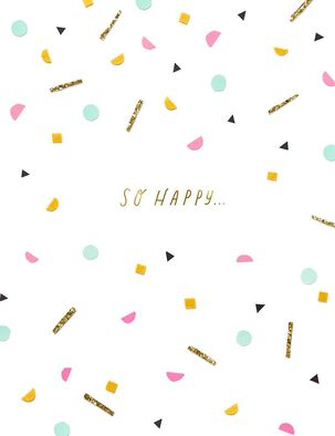 So Happy Confetti Birthday Card