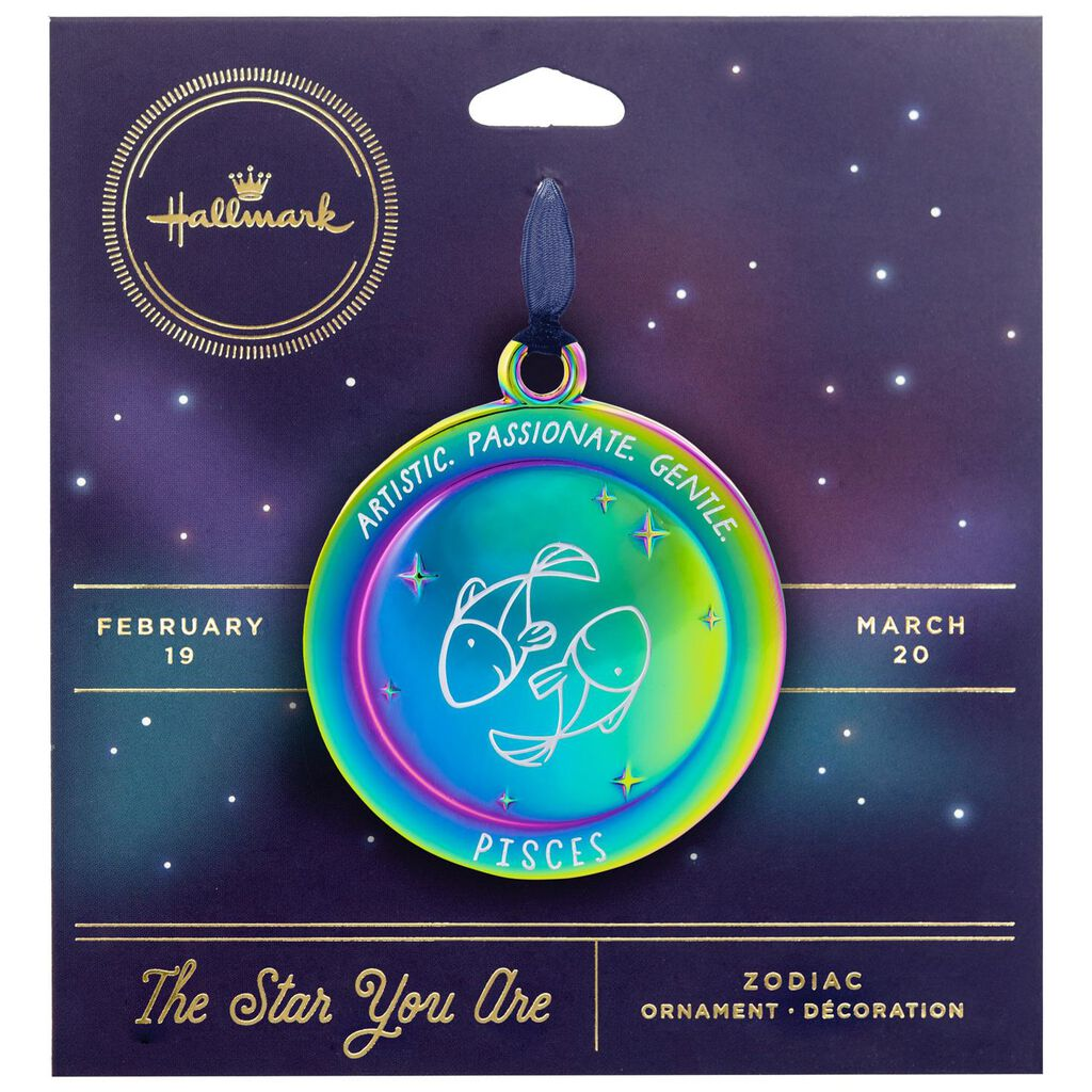 Pisces The Star You Are Zodiac Metal Ornament