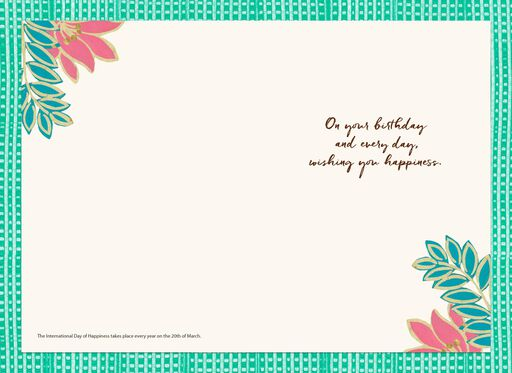 Wishing You Happiness Every Day Birthday Card,